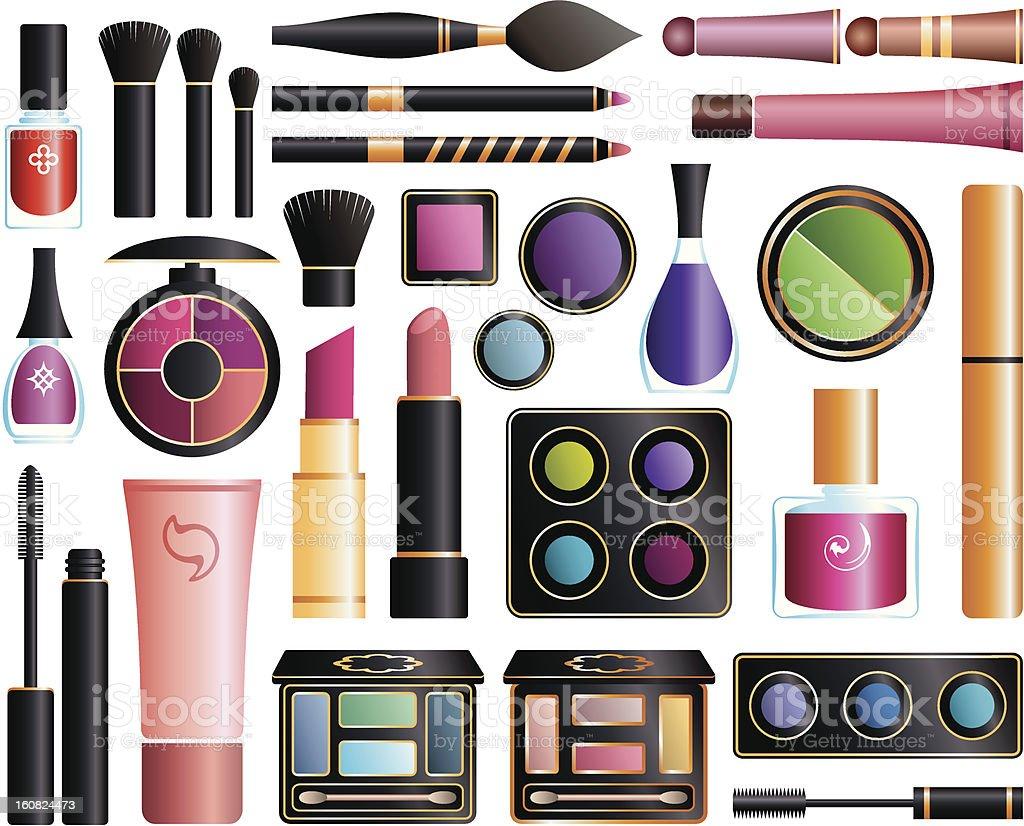 Set of cosmetics royalty-free stock vector art