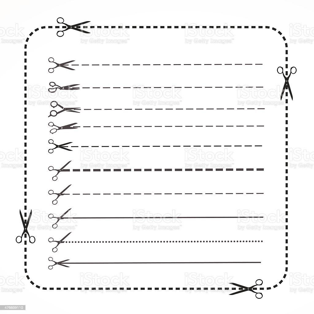 Set Of Coupon Border Stock Vector Art & More Images of 2015 ...