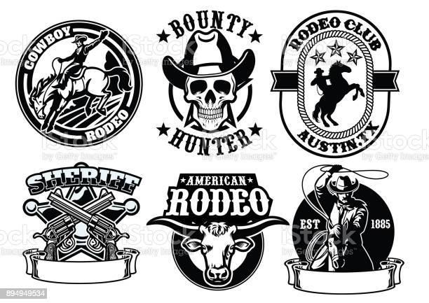 Set of cowboy badge vector id894949534?b=1&k=6&m=894949534&s=612x612&h=abex5ebbswq81xh5v6fdzu7tihxvds5wum6miv7eacu=