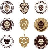 Set of craft beer labels