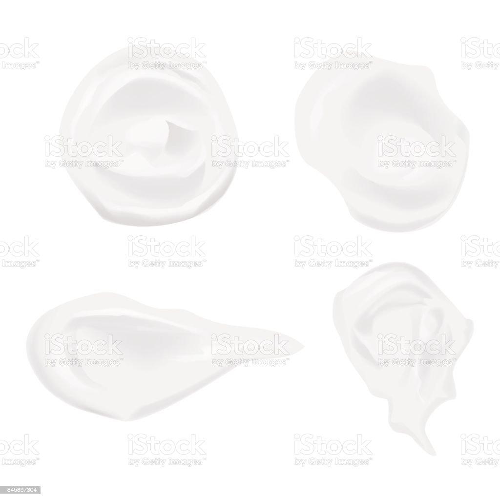 Set of cream elements. Skin cream. vector art illustration