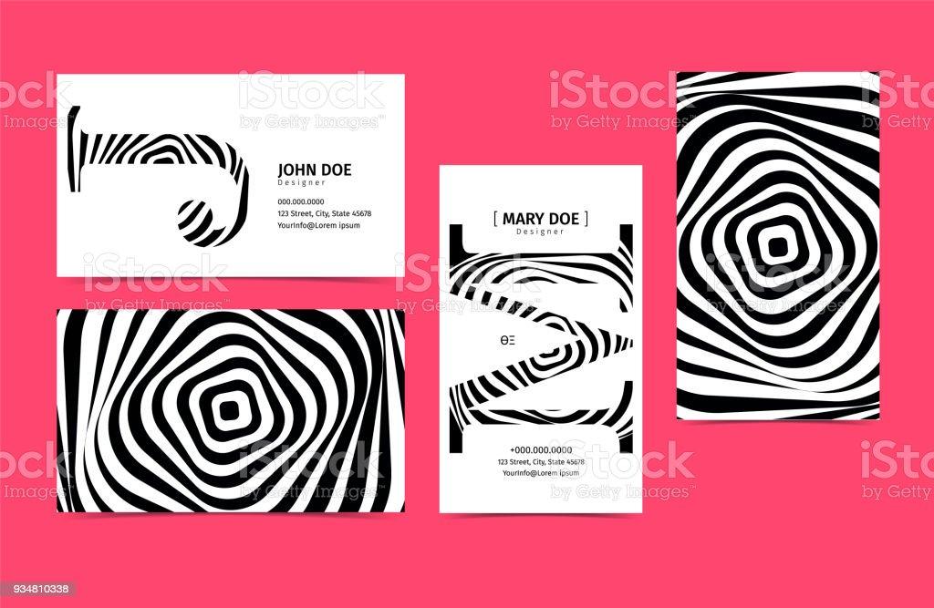 Satz Von Kreativen 90 X 50 Visitenkarten Vorlage Farben