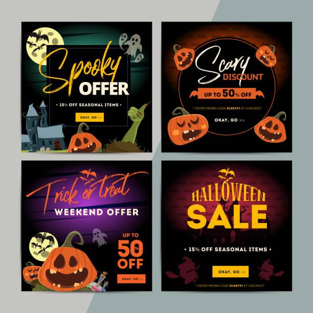 Halloween Sale stock vector. Illustration of season, jack - 21599574