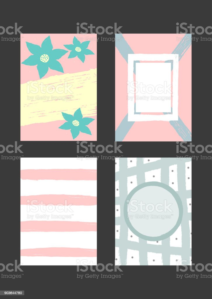 set of creative templates for design of backgrounds cards