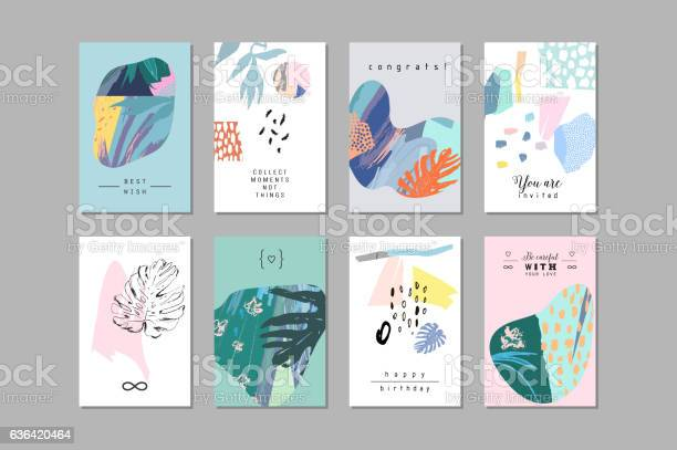 Set of creative universal floral cards in tropical style vector id636420464?b=1&k=6&m=636420464&s=612x612&h= mdcmphruplykrdqgowfrju9xkomz7dlcskos98ijfi=
