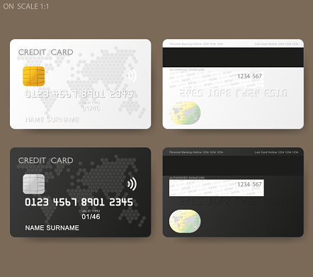 Credit and credit card stock illustrations