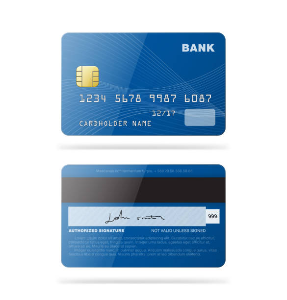 Set of credit cards isolated on white background. Detailed vector illustration. Can be use for your design, promo, advertising and etc. banking patterns stock illustrations