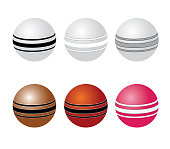 A set of cricket balls for playing