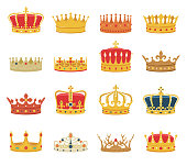 King and queen crown illustrations