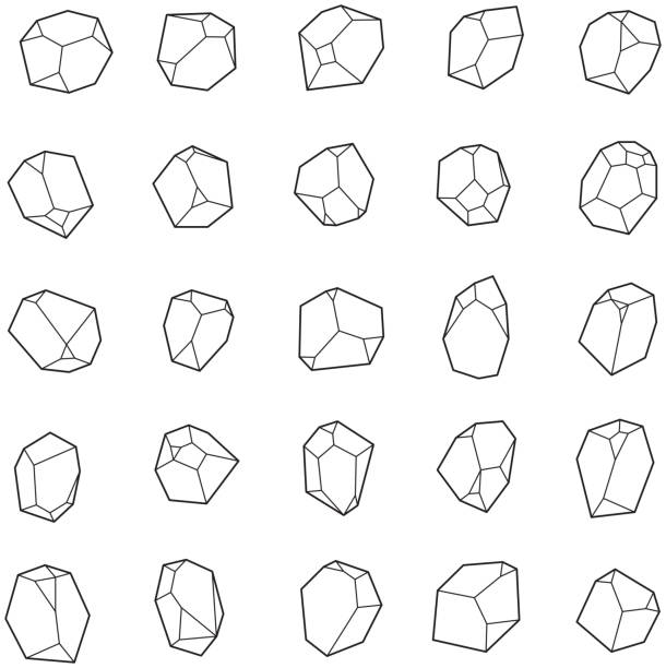 set of crystals, gems. - skała stock illustrations