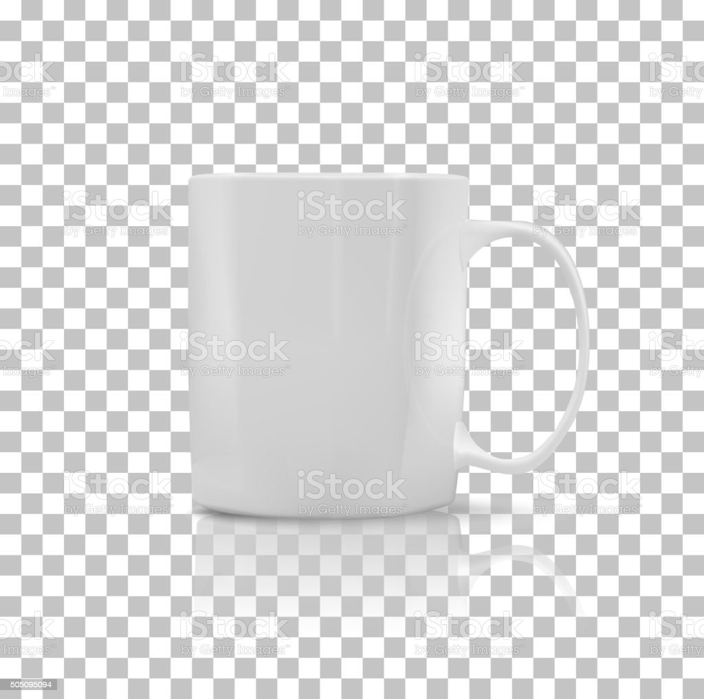 Set of Cup or Mug White Color vector art illustration