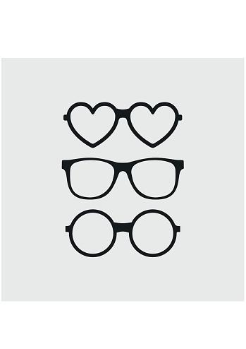 Set of custom glasses icons. Modern fashion glasses. Hipster sunglasses