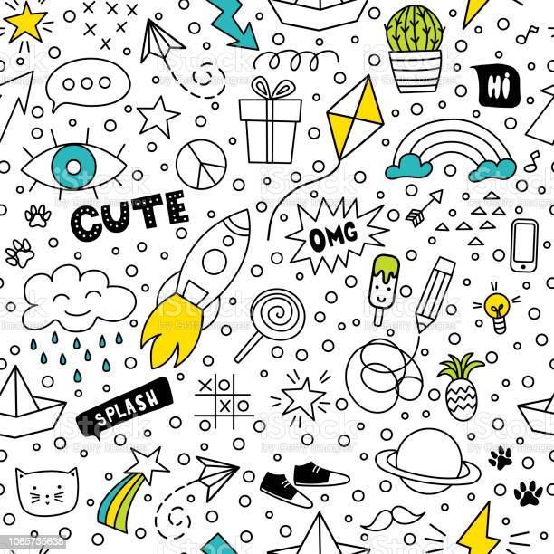Set of cute and colorful doodle hand drawing on white background vector id1065735638?b=1&k=6&m=1065735638&s=612x612&h=gzhfjwrek n 18xvsjsukgkvu0rokvv9exs2s94p91w=
