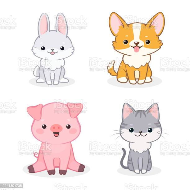 Set of cute animal characters on isolated white background vector id1141301738?b=1&k=6&m=1141301738&s=612x612&h=ms axhcyz8nrt0l8vmkm4x6w5dtauwuarueoglqckmm=
