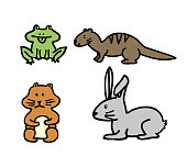 Vector isolated icon of animal