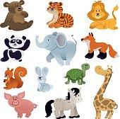 istock Set of Cute animals 640876434