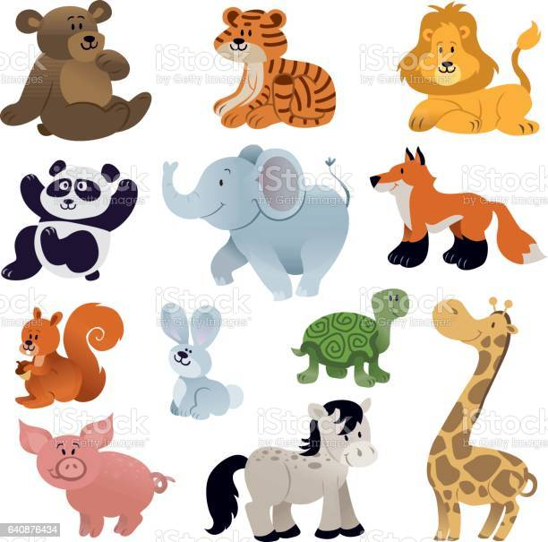 Set of cute animals vector id640876434?b=1&k=6&m=640876434&s=612x612&h=wu u m 3g0nema1ww7nckw8ugrknbkbp4vatsh3em3o=