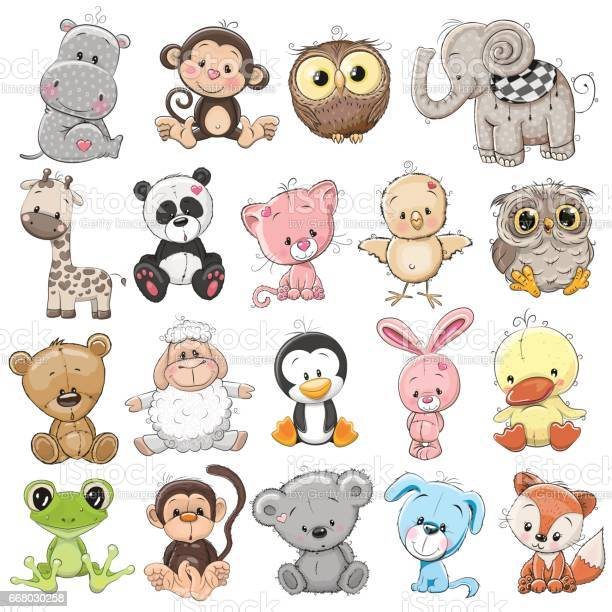 Set of cute animals vector id668030258?b=1&k=6&m=668030258&s=612x612&h=zbqeuxjm9qrecqzdnou20zhgt124dotj10xwq2jmmha=