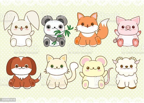 Set of cute baby animals in kawaii style vector id533581616?b=1&k=6&m=533581616&s=612x612&h=rjcvwnjafv 2 7fr3qepauvffy lfseplvsx3dvxlh8=