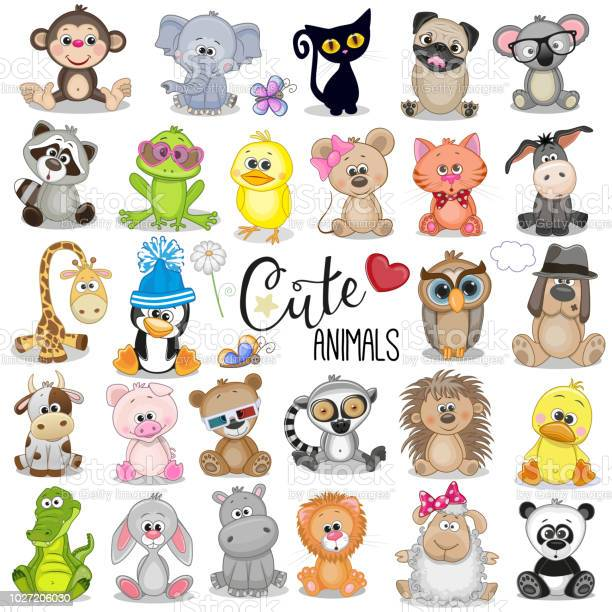 Set of cute cartoon animals vector id1027206030?b=1&k=6&m=1027206030&s=612x612&h=oipjx81xstxyr0mxqvmcnwcj2aqsxllh7to boypcu8=