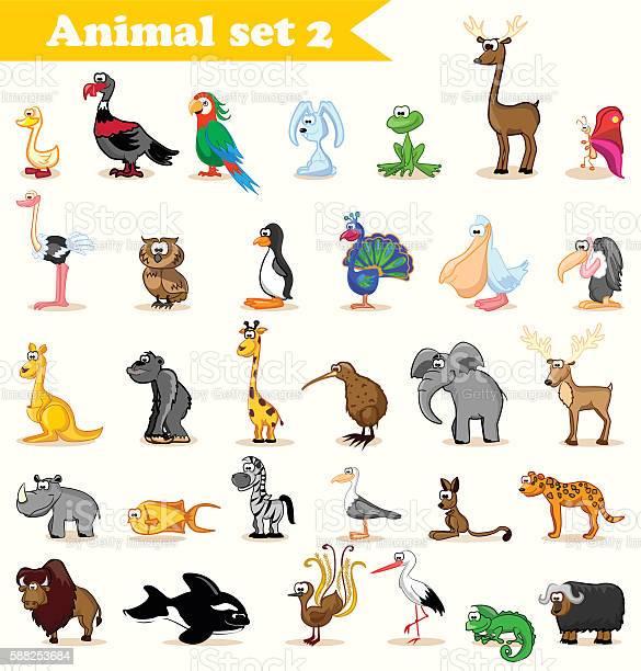 Set of cute cartoon animals vector id588253684?b=1&k=6&m=588253684&s=612x612&h=y7yfkkgtxlogah0y831iuyv00pv1ugb0wrcimcyhuni=