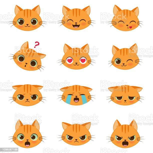 Set of cute cartoon cat emotions vector id1096067188?b=1&k=6&m=1096067188&s=612x612&h=vbohmt0wc2yc0x7ovuua6fikmvtiab20 qqwndrds9s=