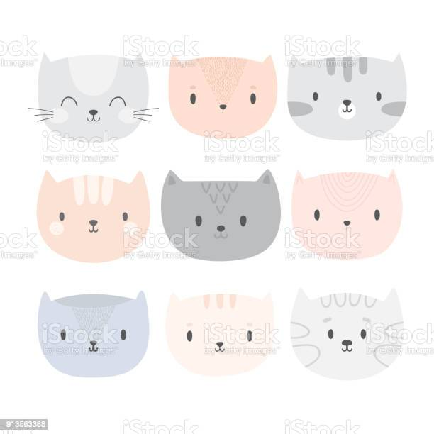 Set of cute cartoon cats funny doodle animals different kittens in vector id913563388?b=1&k=6&m=913563388&s=612x612&h= clodx6lcszkrqpfwmyd 5sqrjawzqc97ttp2d xr20=