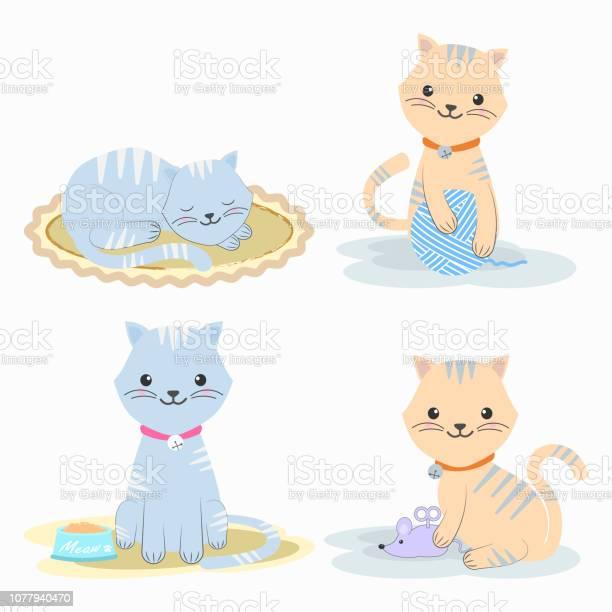 Set of cute cat cartoon character icon illustration vector id1077940470?b=1&k=6&m=1077940470&s=612x612&h=qrwfeqi hihnzmrpx0ynuftxiq1fsxdfp68yuwwok8g=