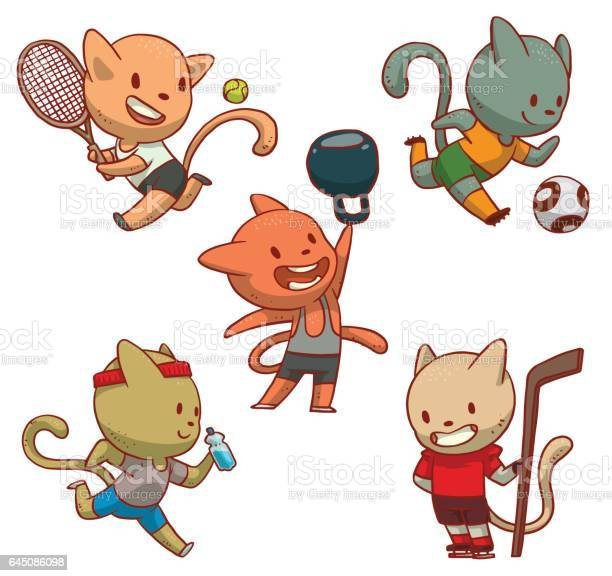 Set of cute cats involved in sports vector id645086098?b=1&k=6&m=645086098&s=612x612&h=xufnfm2 hds2ygswfmsvfi9umi4mf3wcy36prbstmrm=