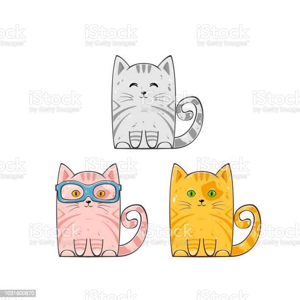 Set of cute cats vector id1031600870?b=1&k=6&m=1031600870&s=612x612&h=h eygho vqhimzdkgbnwwdwaakkvqayrgqho1c0dbow=
