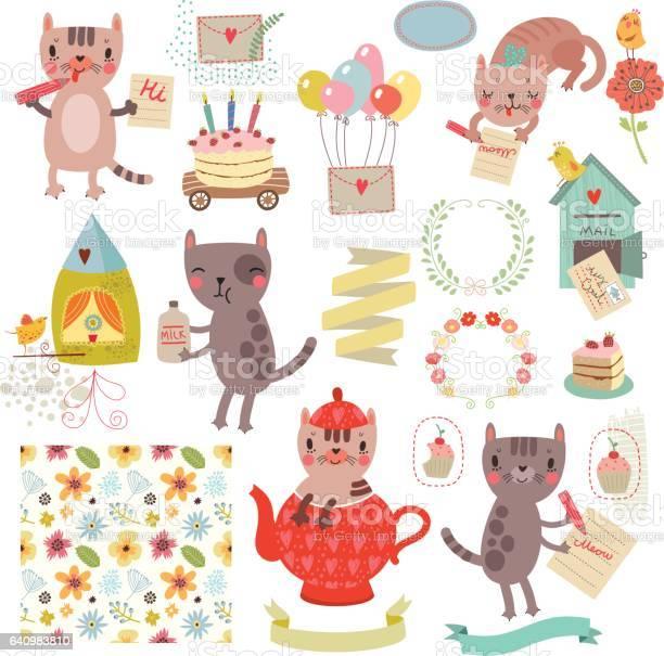 Set of cute characters cats collection vector id640983810?b=1&k=6&m=640983810&s=612x612&h=dttjuaxypvlh1t2zgyi9rsjtzohrqdbmrdct7zgw6ds=