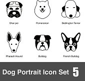Dog face  icon design series