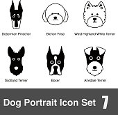 Dog face charactor icon design series