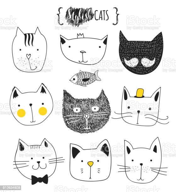 Set of cute doodle cats sketch cat cat handmade print vector id512634928?b=1&k=6&m=512634928&s=612x612&h=22xh27taunvdxs6wvr7vown33cujpdtqbsudgkr0mhs=
