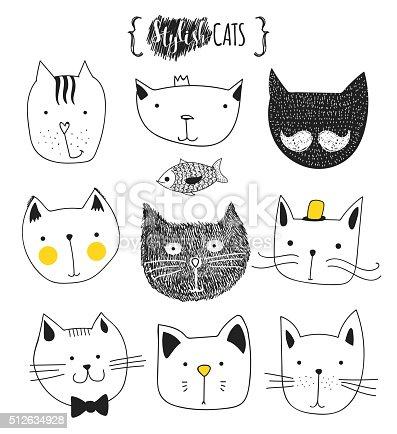 Conjunto De Desenhos Fofinho Gatos Desenho De Gato Gato