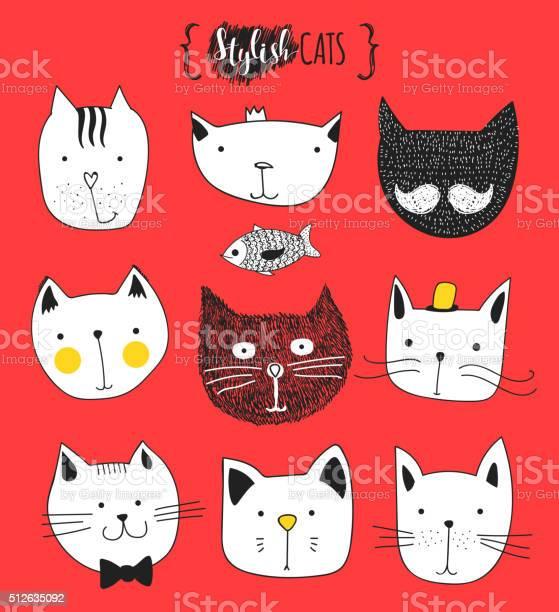 Set of cute doodle cats sketch cat cat handmade print vector id512635092?b=1&k=6&m=512635092&s=612x612&h=zgpb5pyw9rgqofdtsrn7bvojstj1hwc0nkiix6a8mio=