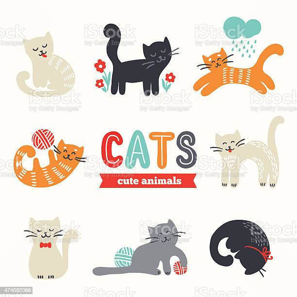 Set of cute eight cats with different characters vector id474092066?b=1&k=6&m=474092066&s=612x612&h=lv xbvfaqig2s ec23bo76vvudggzkanwqua67 mkoi=