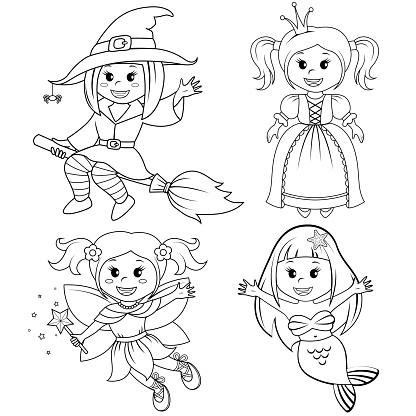 Sirin Peri Masali Kizlar Kumesi Halloween Cadi Deniz Kizi Prenses