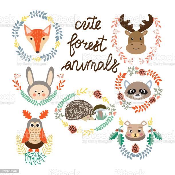 Set of cute forest elements animals and plants vector id899222446?b=1&k=6&m=899222446&s=612x612&h=lernrwr4ftypaloqlwatj5vrlvvb k 4gxabv4usbke=
