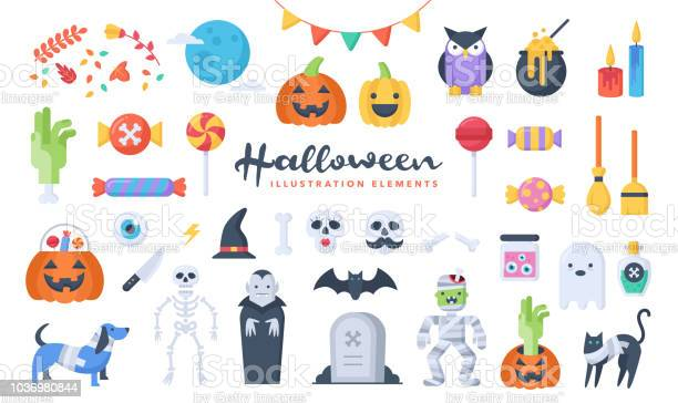 Set of cute halloween illustration elements flat design style perfect vector id1036980844?b=1&k=6&m=1036980844&s=612x612&h=8czfqxpet kwwnf4nqok2u0wiq8fg8og82mupciocqy=