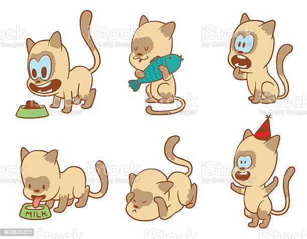 Set of cute little cats color image vector id608635322?b=1&k=6&m=608635322&s=612x612&h=ptwhs0obzum9dut4jxwh7 95149pm o3wtq 3b83v 0=