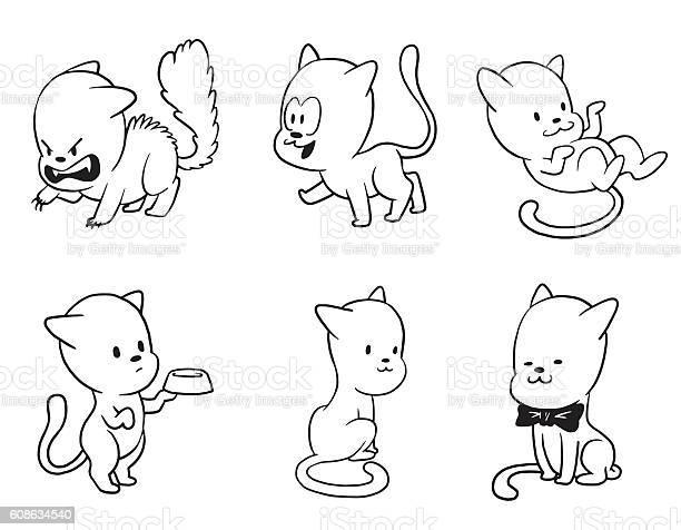 Set of cute little cats monochrome style vector id608634540?b=1&k=6&m=608634540&s=612x612&h=pgenlaferzqatpataytoy dc7hkliq1qemwywb3xo c=
