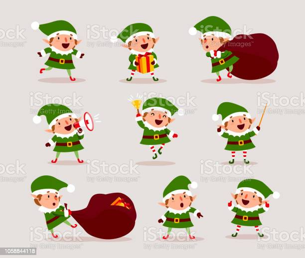 Set of cute playful christmas elves collection of cute santa claus vector id1058844118?b=1&k=6&m=1058844118&s=612x612&h=8s3rz7ual21nsb9zqpquefp14ckdhxim1zbuoadqixo=