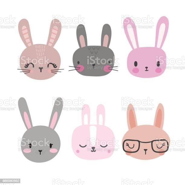Set of cute rabbits funny doodle animals little bunny in cartoon vector id666980552?b=1&k=6&m=666980552&s=612x612&h=oz37dgkdivcnv1hzt f5a64cufiygzp6yhbkpyandgs=