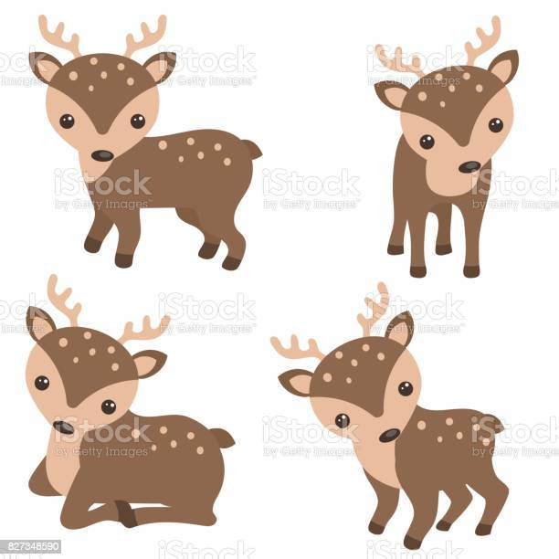 Set of cute reindeer vector id827348590?b=1&k=6&m=827348590&s=612x612&h=iimdzr1h4jhpehi7jf6bwsixcislcelaeg8gmw2lnqa=