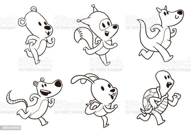Set of cute running animals line art vector id889559690?b=1&k=6&m=889559690&s=612x612&h=awsx2trcqnzvargvhg ch1aee2av8u3nf5c2pu opcm=