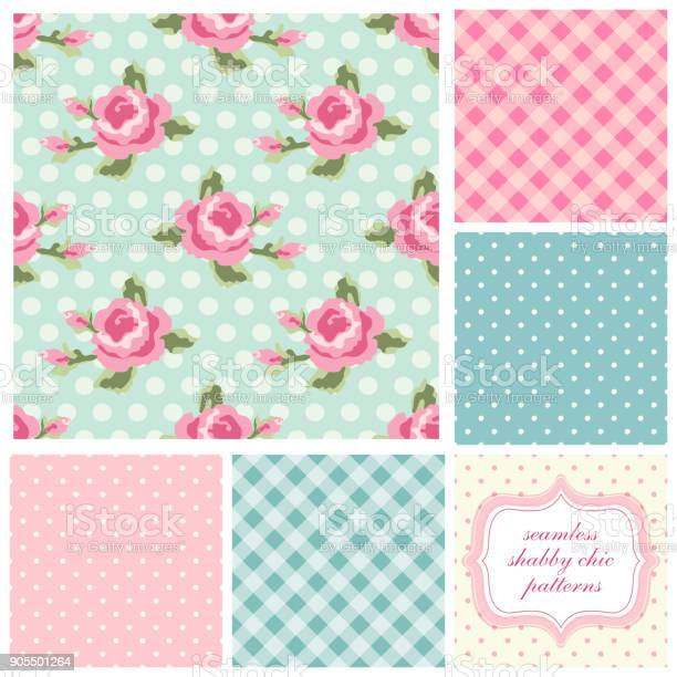 Set of cute seamless shabby chic patterns with roses polka dot and vector id905501264?b=1&k=6&m=905501264&s=612x612&h=craymcssk2kwwr5djmxyyhix0vk8f59iwl0v muonzy=