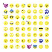 Set of cute smiley emoticons