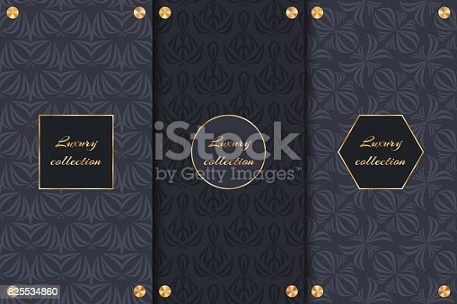 A collection of abstract elegant backgrounds for the decoration of luxury products.