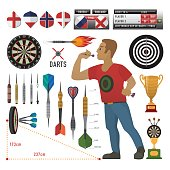 Set of darts items and elements in vector